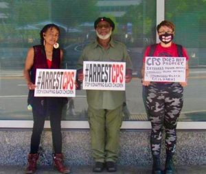 organizers outside of Philadelphia's DHS building during ANWO's  National Day of Action on August 27th